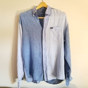 Faconnable Patchwork Denim Button Down Shirt